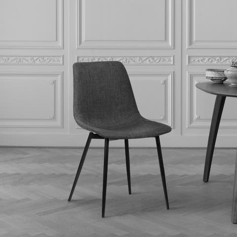 Monte Faux Leather or Fabric Dining Accent Chair