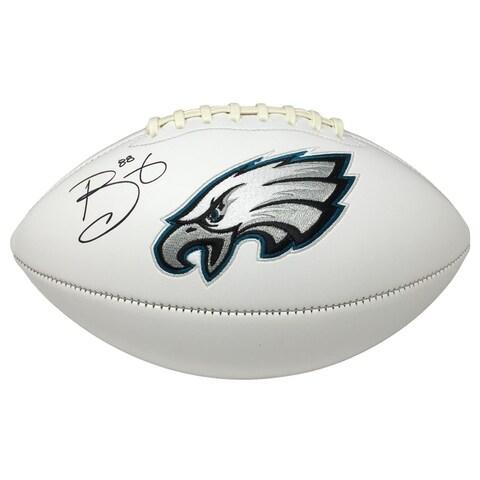Super Bowl 52 Champ Trey Burton Signed Philadelphia Eagles Logo Football JSA ITP