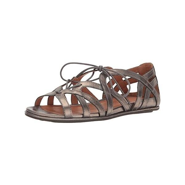 Gentle Souls Womens Oona Gladiator Sandals Metallic Lace-Up