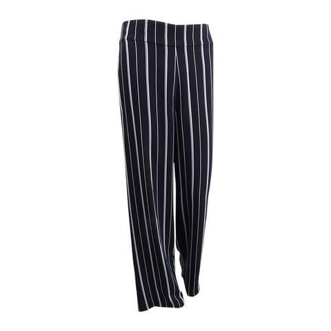 Nine West Women's Striped Wide-Leg Pants (2, Black/White) - Black/White - 2