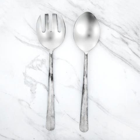 Inox Ridge Design 2-piece Nascent Steel Salad Serving Set