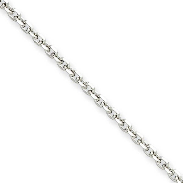 Chisel Stainless Steel 3.4mm 18 Inch Cable Chain (3.4 mm) - 18 in