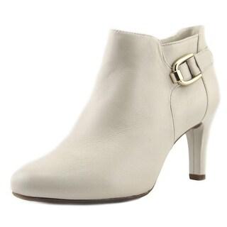 Bandolino Layita Women Round Toe Leather White Bootie