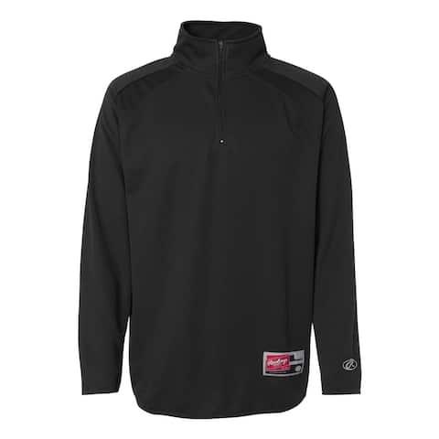 Quarter-Zip Flatback Mesh Fleece Pullover