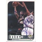 Ervin Johnson Seattle Supersonics 1994 Hoops Rookie Autographed Card Rookie Card This item comes with a certificate