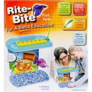 - Penn-Plax Rite-Bite Betta Fish Tank 1.13 Gallons