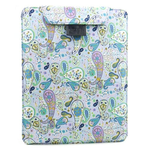 JAVOedge Paisley Flex Sleeve Case for Apple New iPad / iPad 2 (Light Blue)
