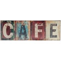 Cafe Metal Wall Plaque ,Multicolor