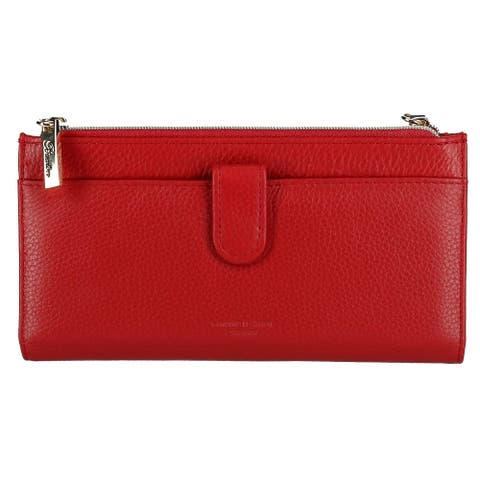 Buxton Women's Florence II Cosmopolitan Leather Wallet with Zipper - one size