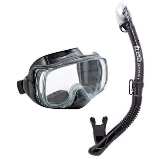 Tusa Unisex-Adult Impres 3D Dry Mask Snorkel Combo Black