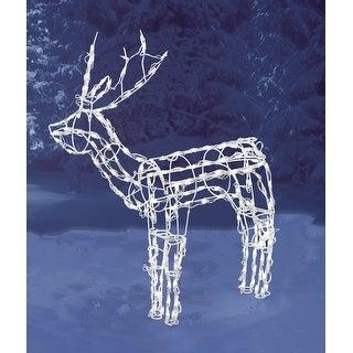 "Brite Star 46-237-23 3D Standing Deer Wire Sculpture, 48"" H"