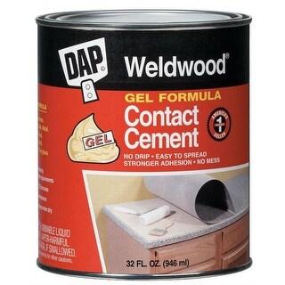 Dap 25312 Weldwood Gel Formula Contact Cement, 1 Qt