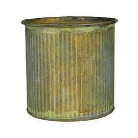 """CYS® Corrugated Zinc Metal Galvanized Plant Pot Cylinder Vases, H-3"""" Pots, Planters - Pack of 6 pcs"""
