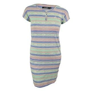 Lauren Ralph Lauren Women's Tribal-Striped Jersey Sleepshirt