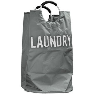 "Link to American Art Decor Collapsible Laundry Hamper Clothes Basket with Cushioned Handles - Grey (31"" x 17"") Similar Items in Laundry"