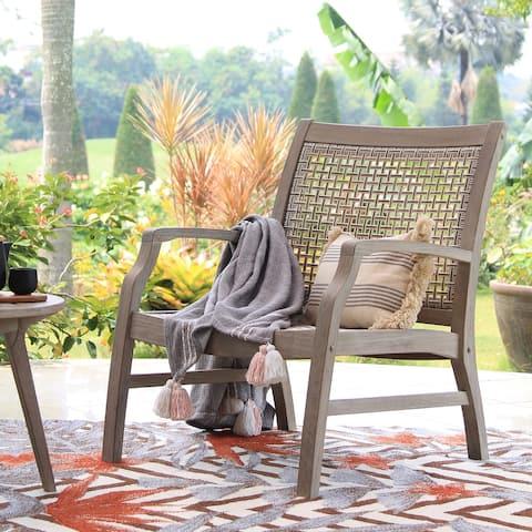 Cambridge Casual Zuma Teak Wicker Outdoor Lounge Chair