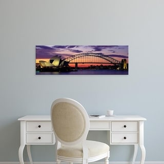 Easy Art Prints Panoramic Images's 'Sydney Harbour Bridge At Sunset, Sydney, Australia' Premium Canvas Art