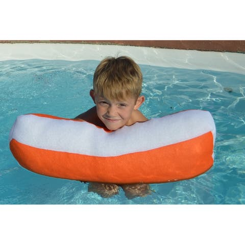 "24"" Bright Orange Mini Size Float Assistant Swimming Pool Pillow"