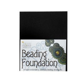BeadSmith Beading Foundation - For Embroidery Work - Black 5.5x4.25 Inches