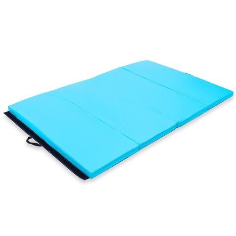 "4' x 6' x 2"" PU Thick Folding Panel Exercise Gymnastics Mat"