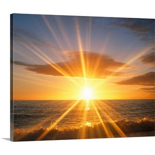 """Sunset over the sea"" Canvas Wall Art"