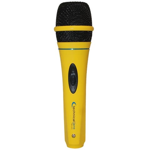 """Technical Pro Wired Microphone w/ Digital Processing Karaoke DJ, Portable, Steel Construction, Cables Included, XLR to 1/4"""""""