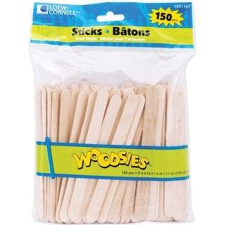 "Woodsies Craft Sticks-Natural 4.5"" 150/Pkg"