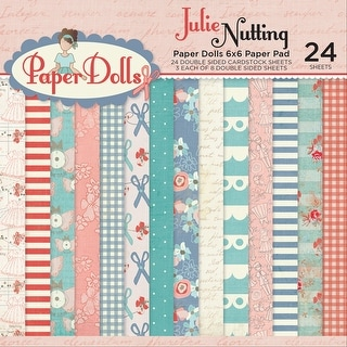 """Photo Play Double-Sided Paper Pad 6""""X6"""" 24/Pkg-Julie Nutting Paper Dolls, 8 Designs/3ea"""