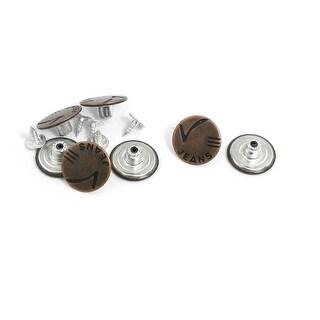 Unique Bargains Metallic Tack Button Rivet Brown 7 Pieces for Jeans