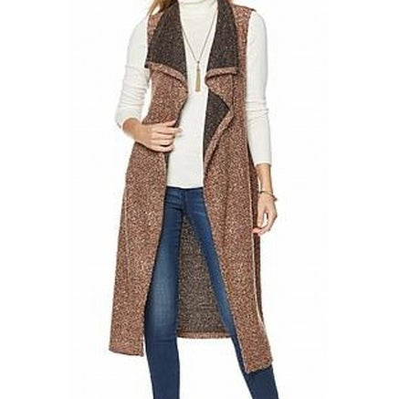 f3d1a6f4f58 Shop Faith   Zoe NEW Rust Brown Womens Small S Open Front Cardigan Sweater  - Free Shipping On Orders Over  45 - Overstock - 19495637