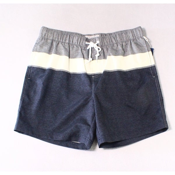 c53e2018a1 Shop Original Penguin Blue Mens Size Large L Trunks Colorblock Swimwear -  Free Shipping On Orders Over $45 - Overstock - 28489160
