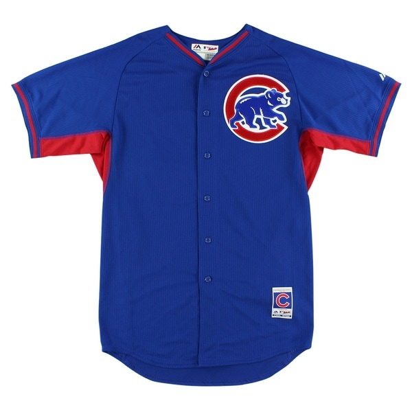 best sneakers 790a5 7928f Majestic Mens Chicago Cubs MLB Starlin Castro Batting Practice Jersey Royal  Blue - Royal Blue/Red - L