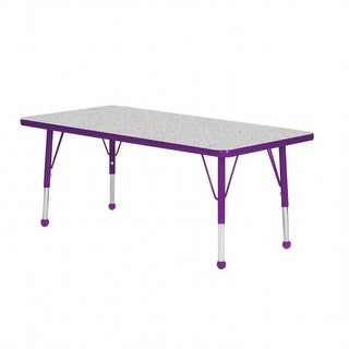Mahar Manufacturing N2430SA-SB 24 x 30 in. Rectangle Activity Table with Blue Top & Sour Apple Edge - Standard Leg Ball Glides