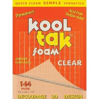 """Kool Tak 3D Foam Pads 144/Pkg-Clear, .25""""X.25""""X.031"""""""