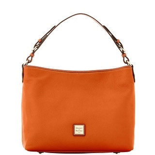 Dooney & Bourke Pebble Grain Large Courtney Sac (Introduced by Dooney & Bourke at $298 in Sep 2016) - Tangerine