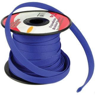 """Installation Solution Expandable Braided Sleeve Blue 1/4"""""""