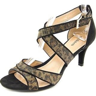 Style & Co Pravati Women Open Toe Synthetic Gold Sandals