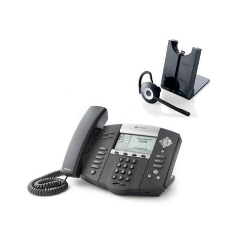 Polycom 2200-12560-025 w/ Headset Option SoundPoint IP 560 4-Line IP Phone (POE)
