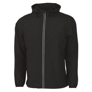 Charles River Apparel Men's Reflective Wind & Water Resistant Pack-N-Go Jacket - l