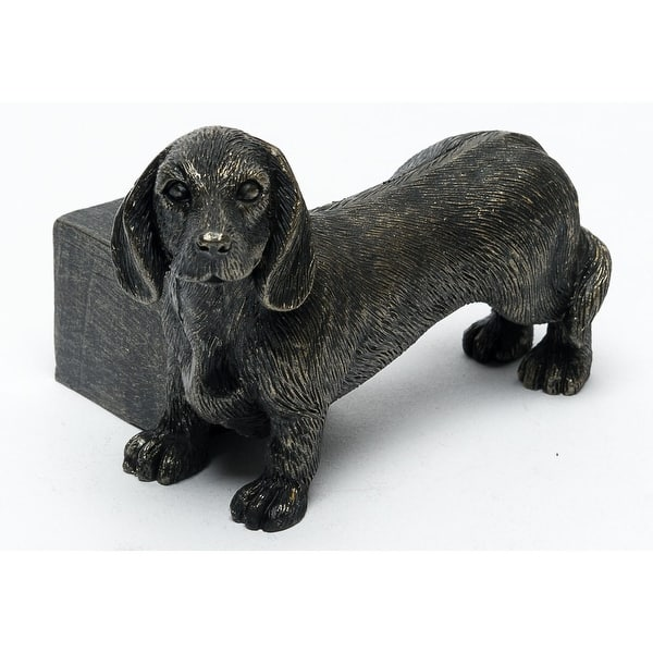 Dachshund Plant Pot Feet Set Of 3 Resin Wiener Dog Shaped Potted Plant Risers Antique Bronze Finish Rustic Home Decor Overstock 31789235