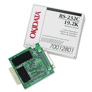 OKI RS-232C Internal Interface 70012801 Oki Super-Speed 19.2K RS-232C Serial Adapter - 1 x 9-pin DB-9 RS-232C Serial https://ak1.ostkcdn.com/images/products/is/images/direct/4958e017f337393b115ce621568beba77894d23d/OKI-RS-232C-Internal-Interface-70012801-Oki-Super-Speed-19.2K-RS-232C-Serial-Adapter---1-x-9-pin-DB-9-RS-232C-Serial.jpg?impolicy=medium