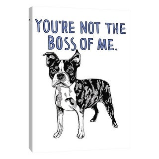 """PTM Images 9-105712  PTM Canvas Collection 10"""" x 8"""" - """"Boston Terrier"""" Giclee Dogs Art Print on Canvas"""