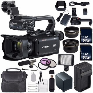 Canon XA11 Compact Full HD ENG Camcorder #2218C002 (International Model) + 64GB SDXC Class 10 Memory Card + Condenser Mic Bundle