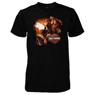 Harley-Davidson Men's Reaper Ride Short Sleeve Crew-Neck T-Shirt, Solid Black
