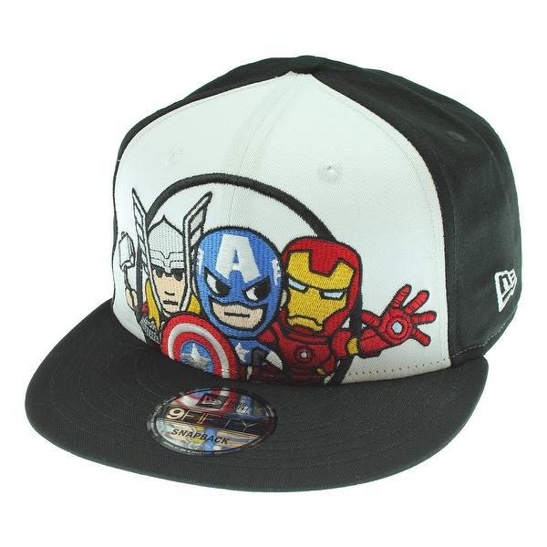 05972a457ca Shop Tokidoki Marvel Trio New Era 9Fifty Men s Black Snapback Hat ...