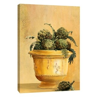 """PTM Images 9-105327  PTM Canvas Collection 10"""" x 8"""" - """"Artichokes"""" Giclee Fruits & Vegetables Art Print on Canvas"""