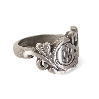 Doctor Who Small Scroll Deco Logo Ring - multi