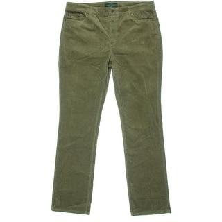 LRL Lauren Jeans Co. Womens Corduroy Pants Corduroy Solid