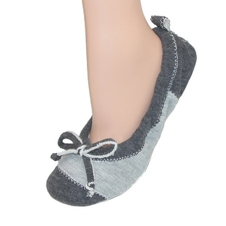 Acorn Women's Jersey Spa Ballet Slippers Flat - charcoal jersey - SMALL