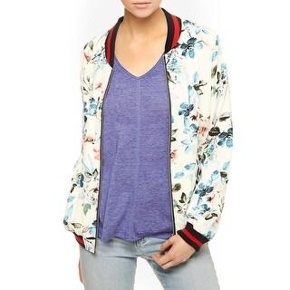 Sanctuary Womens Havana Fever Bomber Jacket Floral Print Coat